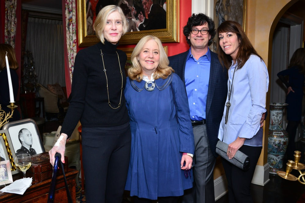 Boo Grace, Michelle Cohen, Michael Dweck, Pattie Dweck== Jacqueline Weld Drake Hosts kickoff party for Loot: Mad About Jewelry== Private Residence, NYC== March 14th 2016== ©Patrick McMullan== Photo - Jared Siskin/PMC==