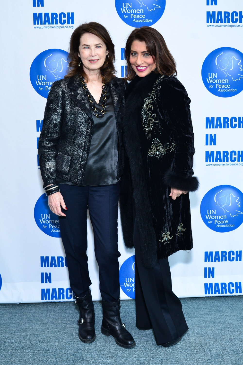 Dayle Haddon, Muna Rihani Al-Nasser== UN Women For Peace Association Annual Luncheon== United Nations Headquarters, NYC== March 04, 2016== ©Patrick McMullan== Photo - Jared Siskin/PMC== =