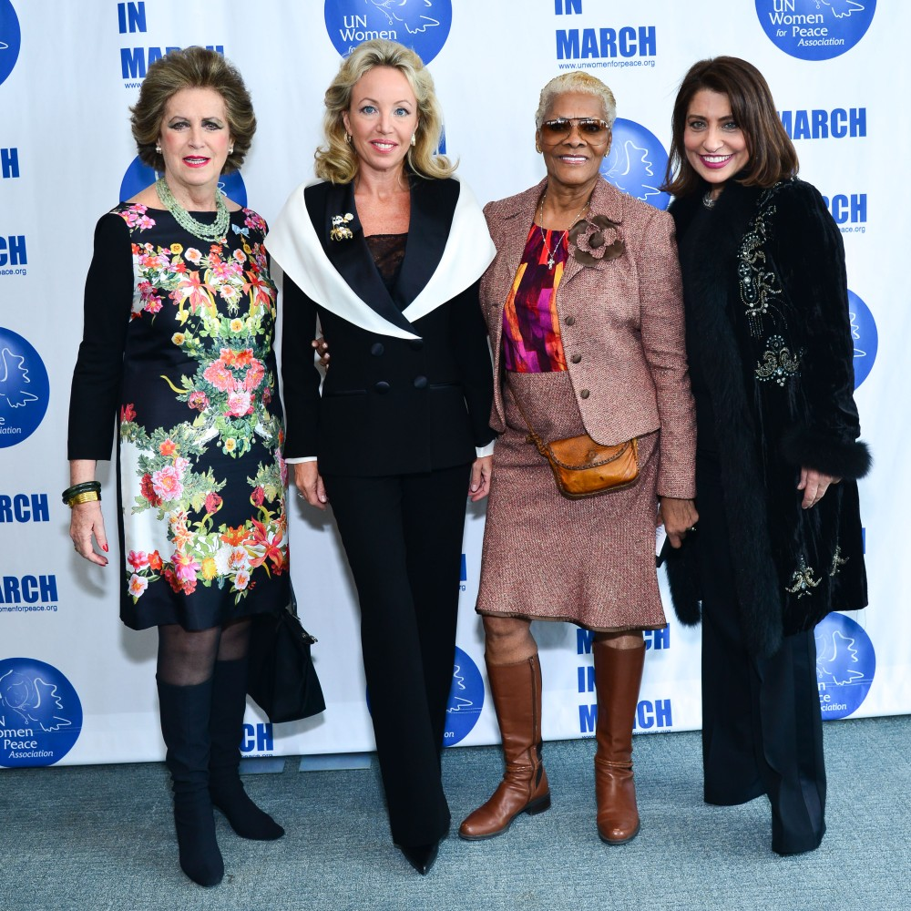 Patricia Kluge, Princess Camilla Duchess of Castro, Dionne Warwick, Muna Rihani Al-Nasser== UN Women For Peace Association Annual Luncheon== United Nations Headquarters, NYC== March 04, 2016== ©Patrick McMullan== Photo - Jared Siskin/PMC== =