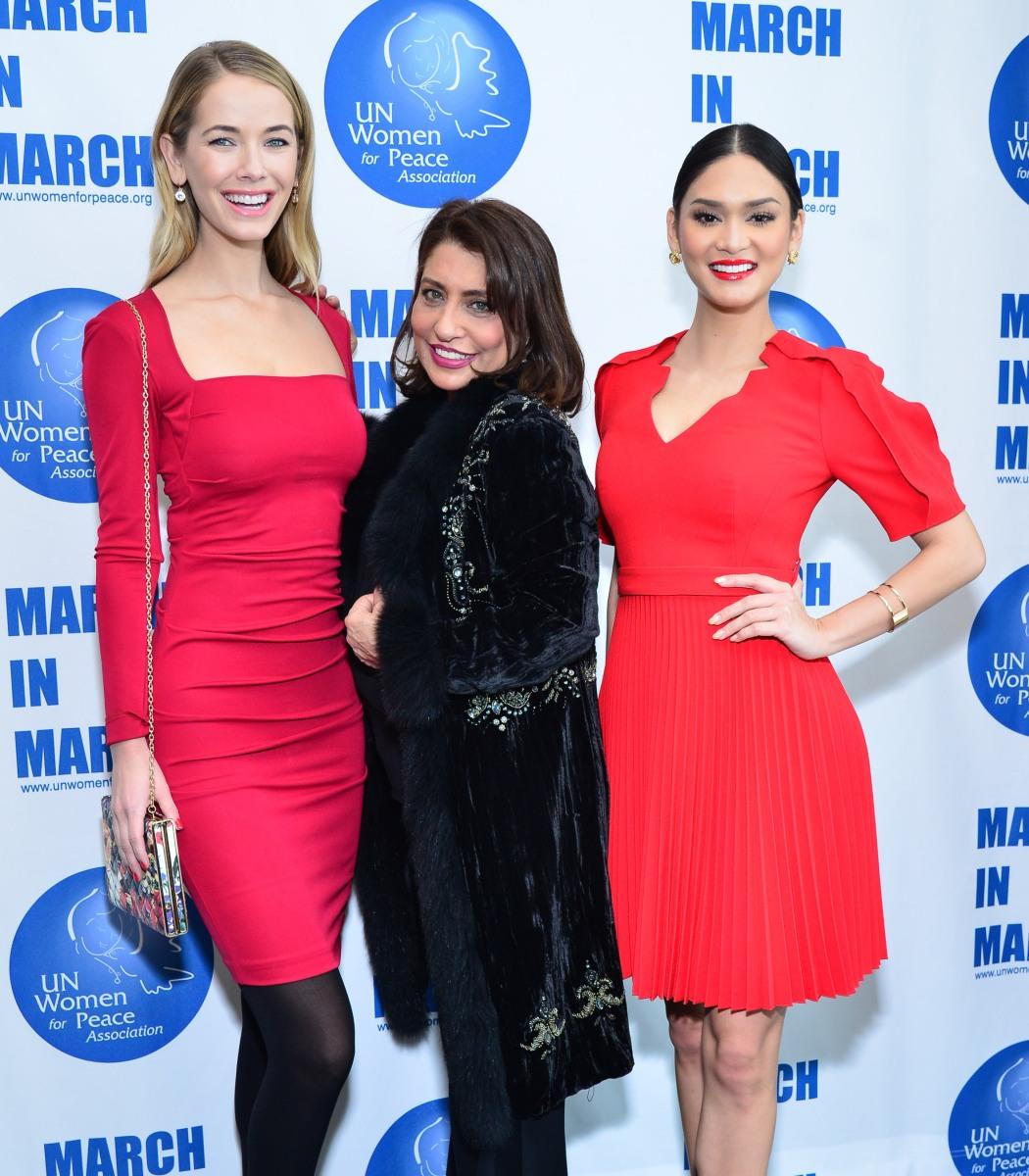 United Nations Delegates Dining Room: Dionne Warwick, Kat Graham, Miss Universe Celebrate