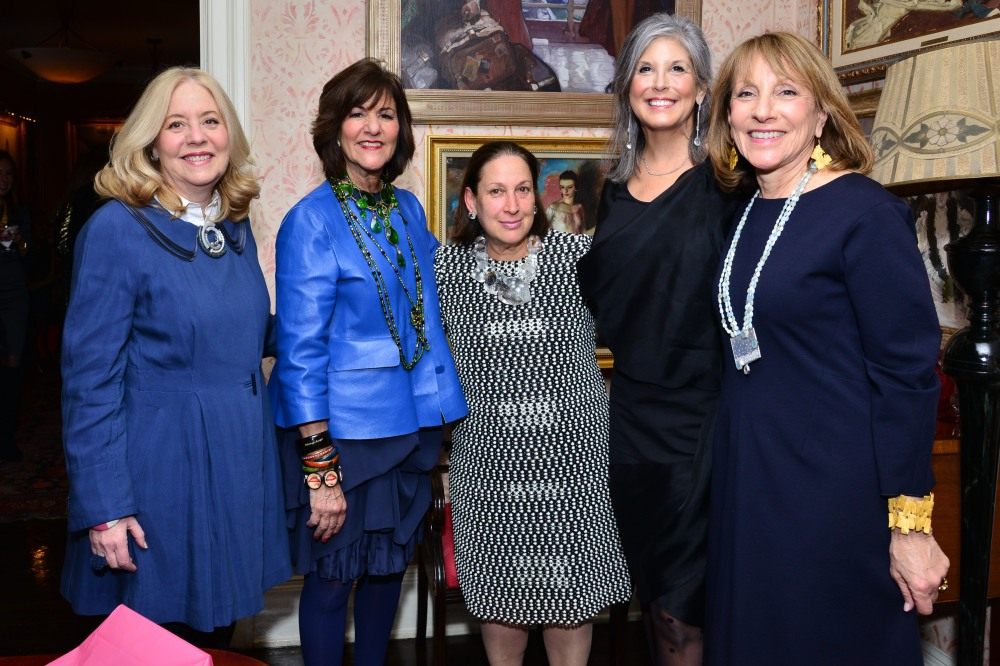 Michelle Cohen, Kay Unger, Bryna Pomp, Joan Hornig, Marsy Mittlemann== Jacqueline Weld Drake Hosts kickoff party for Loot: Mad About Jewelry== Private Residence, NYC== March 14th 2016== ©Patrick McMullan== Photo - Jared Siskin/PMC==