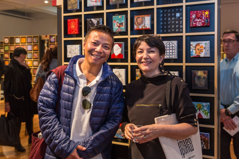 Artist Tenzing Rigdol and curator Paola Vanzo, Imago Mundi - The Art of Humanity, Pratt Institute, New York