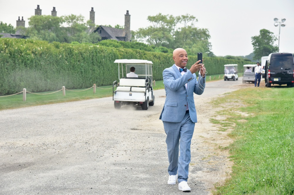 BRIDGEHAMPTON, NY - JULY 16:  CEO of Rush Communications Russell Simmons attends Rush Philanthropic Arts Foundation's 2016 ART FOR LIFE Benefit presented by Bombay Sapphire Gin at Fairview Farms on July 16, 2016 in Bridgehampton, New York.  (Photo by Eugene Gologursky/Getty Images for Bombay Sapphire)