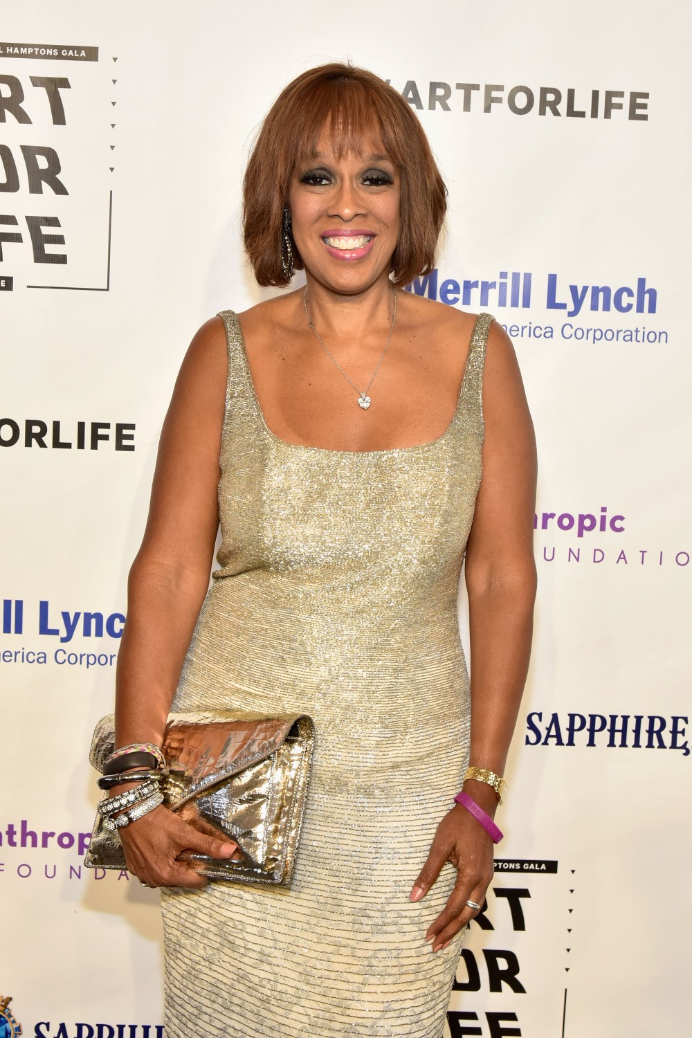 BRIDGEHAMPTON, NY - JULY 16:  Gayle King attends Rush Philanthropic Arts Foundation's 2016 ART FOR LIFE Benefit presented by Bombay Sapphire Gin at Fairview Farms on July 16, 2016 in Bridgehampton, New York.  (Photo by Eugene Gologursky/Getty Images for Bombay Sapphire)