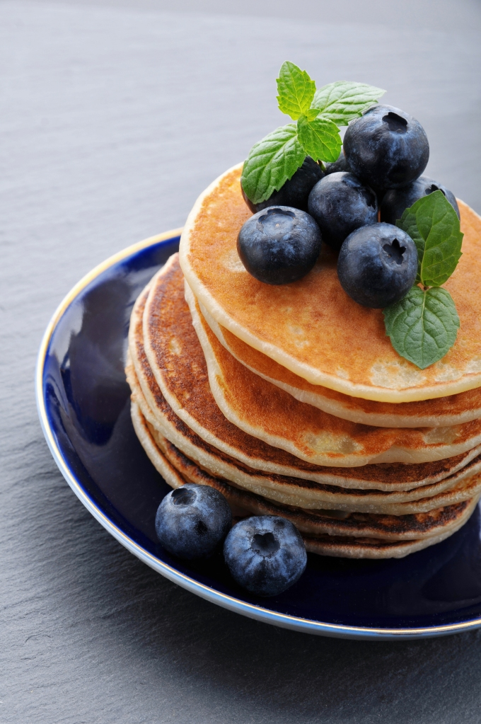 Pancakes with berries: blueberry,blackberry and raspberry.Pancakes with berries: blueberry,blackberry and raspberry.