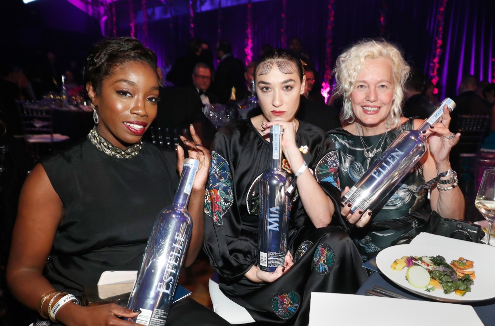 HOLLYWOOD, CA - OCTOBER 27: (L-R) Musicians Estelle, Mia Moretti and photographer Ellen Von Unwerth attend amfAR's Inspiration Gala Los Angeles at Milk Studios on October 27, 2016 in Hollywood, California. (Photo by Rich Polk/Getty Images for Belvedere Vodka) *** Local Caption *** Estelle;Estelle Fanta Swaray;Mia Moretti;Ellen Von Unwerth
