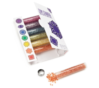 Chakra Bath Salts Set - $22 found at www.uncommongoods.com