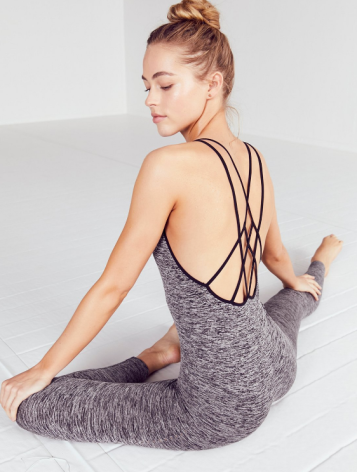 CHAKRA BODY SUIT - FREE PEOPLE - $98 Full length, barely there performance bodysuit featuring strappyback details and a slim, next-to-skin fit. Super stretchy and comfortable to get you through the toughest of workouts. www.freepeople.com