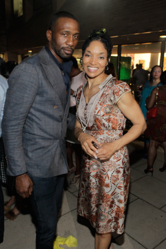 Actors Leon Robinson and Lisa Arrindell