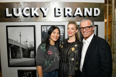 Chief Creative Officer, Lucky Brand, Kin Ying Lee, Actor Jaime King and Chief Executive Officer, Lucky Brand, Carlos Alberini