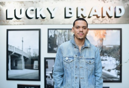 Evan Ross Wearing Lucky Brand's Trucker Jacket