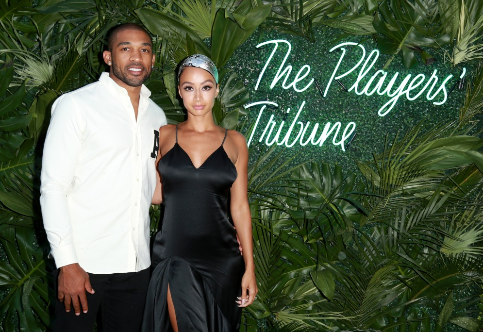 JULY 11: NFL player Orlando Scandrick (L) and model Draya Michele attend The Players' Tribune Hosts Players' Night Out 2017 at The Beverly Hills Hotel on July 11, 2017 in Beverly Hills, California. (Photo by Leon Bennett/Getty Images for The Players' Tribune )