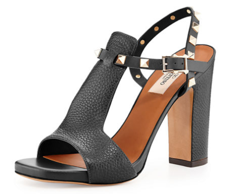 VALENTINO'S ROCKSTUD T-STRAP 90MM SANDAL FOR $995.00