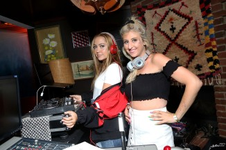 DJ Brandi Cyrus and DJ Jacqueline Rezak at Lucky Brand Presents - Lucky Lounge: City Jam with Brandy at Freehand Chicago on August 5, 2017 in Chicago, Illinois