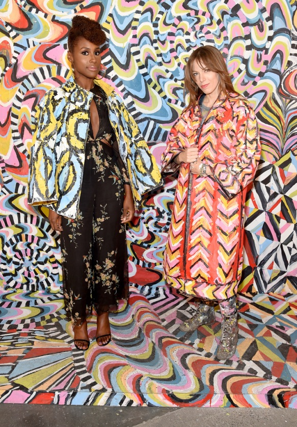 Actress Issa Rae and artist Alexa Meade attend the Refinery29 Third Annual 29Rooms: Turn It Into Art event