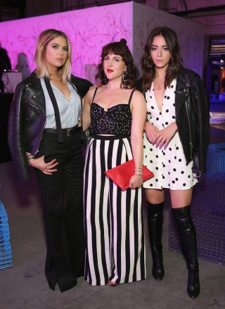 Actress Ashley Benson, Co-Founder and Executive Creative Director of Refinery29 Piera Gelardi, and Actress Chloe Bennet attend the Refinery29 Third Annual 29Rooms: Turn It Into Art event