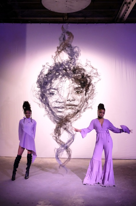 R&B duo Chloe X Halle attends the Refinery29 Third Annual 29Rooms: Turn It Into Art