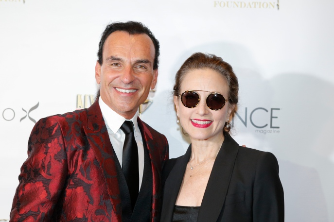 NEW YORK, NY- OCTOBER 01: Joe Lanteri and Bebe Neuwirth (L) attend the Bright Lights Shining Stars Gala organized by The New York City Dance Alliance Foundation at the NYU Skirball Center in New York on October 01,2017. (Photo by Kena Betancur/VIEWpress/Corbis via Getty Images)
