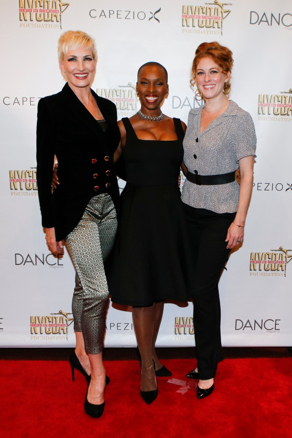 NEW YORK, NY- OCTOBER 01: Amra-Faye Wright (L) Brenda Braxton (C) and Dylis Croman (R) attend the Bright Lights Shining Stars Gala organized by The New York City Dance Alliance Foundation at the NYU Skirball Center in New York on October 01,2017. (Photo by Kena Betancur/VIEWpress/Corbis via Getty Images)