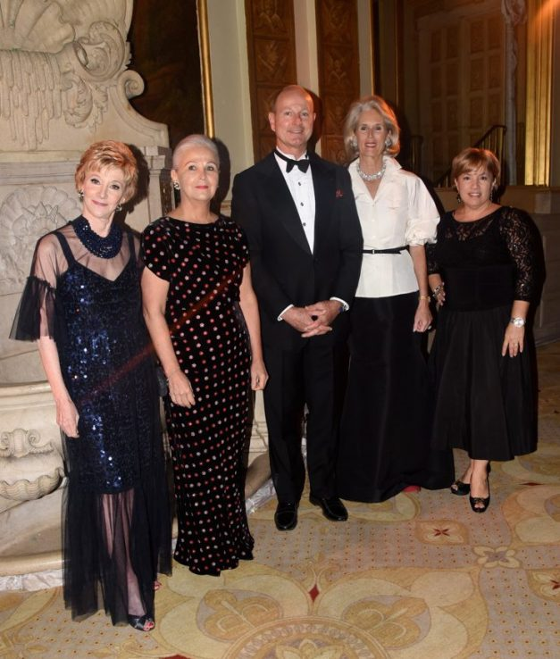 Dinner Chairman Jacqueline Weld Drake, Honoree Julia Salvi, Dinner Chairman Prince Dimitri of Yugoslavia, Honoree Elizabeth Peabody and Executive Director Haydee Morales (Photo by Lieba Nesis)