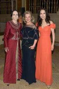 Mary McFadden, Jeanie Lawrence, Angela Chen (Photo by Annie Watt)