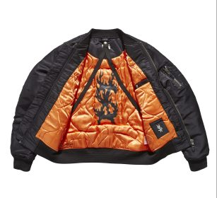 KSUBI X TRAVIS SCOTT higher than heaven bomber black (open front)