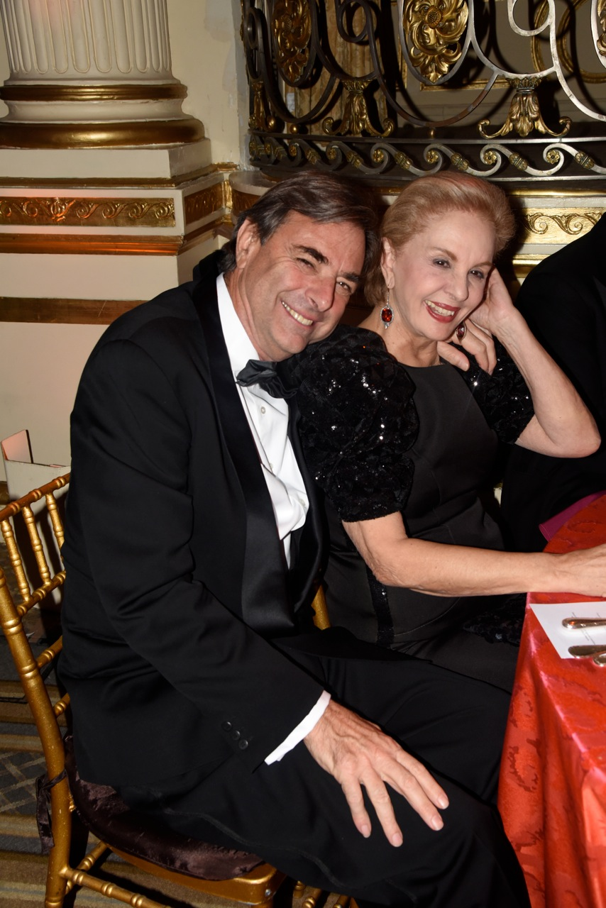 Pietro Cicognani and Designer Carolina Herrera (Photo by Lieba Nesis)