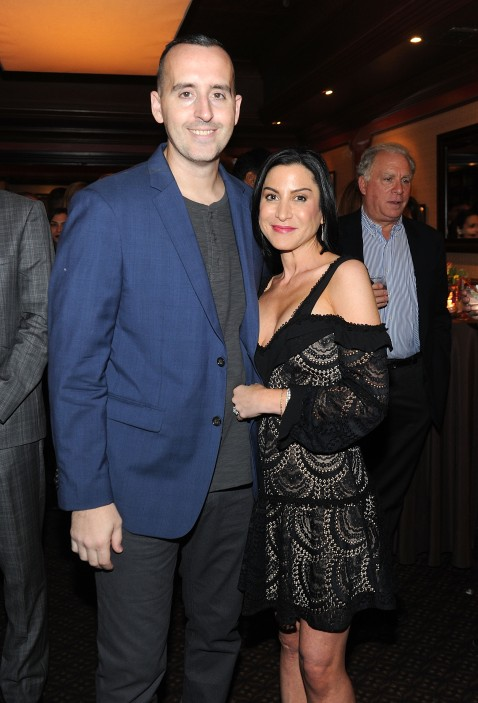 """NEW YORK, NY - OCTOBER 25: Patrick Coombe(L) and Jacquelyn Sherry Coombe attend the Caron Renaissance event and screening of """"Drugfree"""" on October 25, 2017 in New York City. (Photo by Brad Barket/Getty Images for Caron)"""