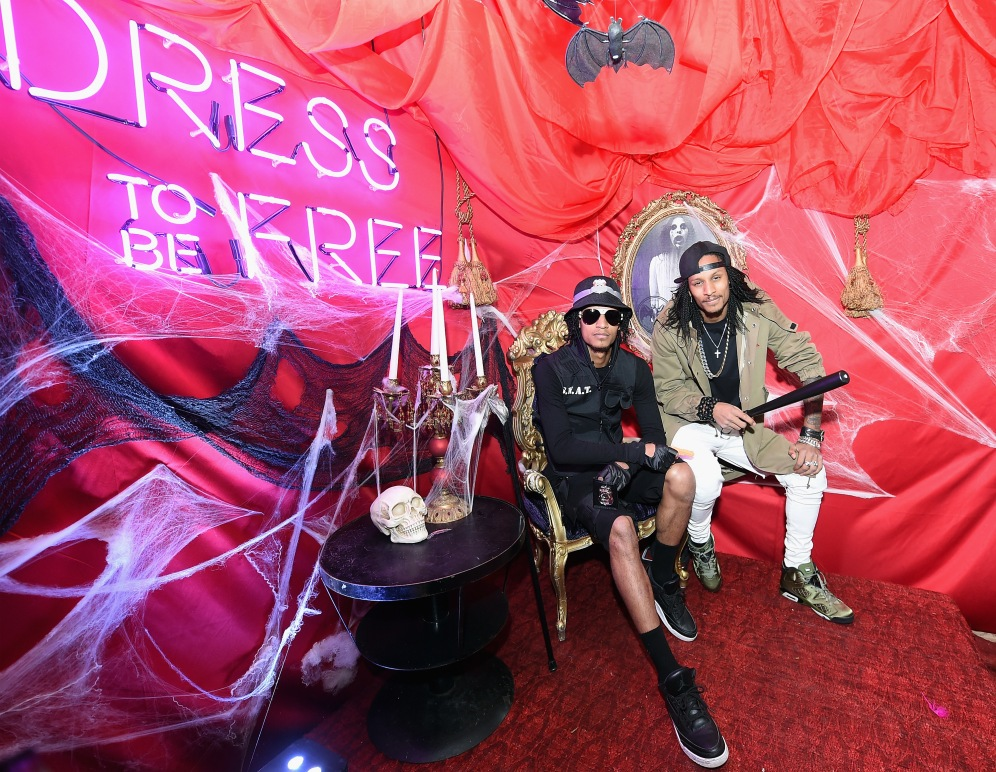 NEW YORK, NY - OCTOBER 30: Laurent Bourgeois (L) and Larry Nicolas Bourgeois of Les Twins attend BACARDI presents Dress To Be Free with performances by Cardi B and Les Twins at House of Yes on October 30, 2017 in New York City. (Photo by Michael Loccisano/Getty Images)