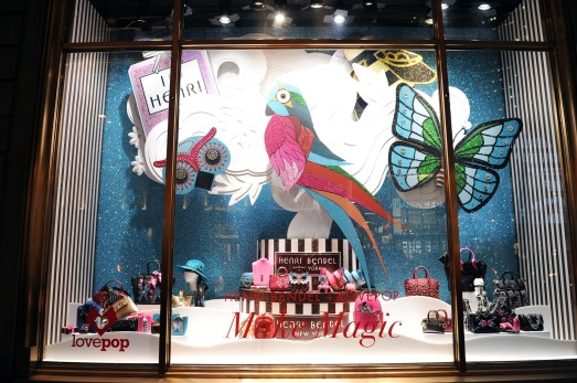 NEW YORK, NY - NOVEMBER 15: A general view of atmosphere at the Henri Bendel Holiday Window Unveiling at Henri Bendel on November 15, 2017 in New York City. (Photo by Craig Barritt/Getty Images for Henri Bendel)