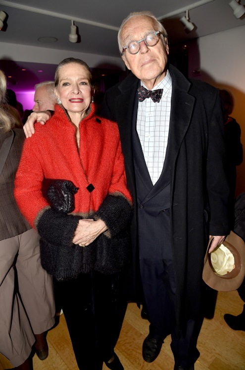 "Adele Chatfield-Taylor, John Guare== Barbara Tober hosts a party for ""AVEDON: Something Personal""== Museum of Art and Design, NYC== November 15, 2017== ©Patrick McMullan== photo - Patrick McMullan/PMC== == Adele Chatfield-Taylor; John Guare"