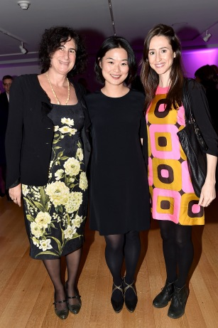 "Cindy Spiegel, ?, Annie Chagnot== Barbara Tober hosts a party for ""AVEDON: Something Personal""== Museum of Art and Design, NYC== November 15, 2017== ©Patrick McMullan== photo - Patrick McMullan/PMC== == Cindy Spiegel; Annie Chagnot"