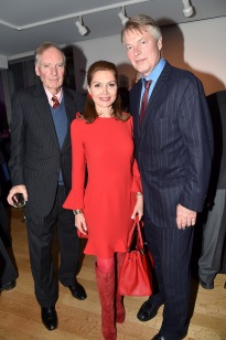 "Gerald Clarke, Jean Shafiroff, Richard Johnson== Barbara Tober hosts a party for ""AVEDON: Something Personal""== Museum of Art and Design, NYC== November 15, 2017== ©Patrick McMullan== photo - Patrick McMullan/PMC== == Gerald Clarke; Jean Shafiroff; Richard Johnson"