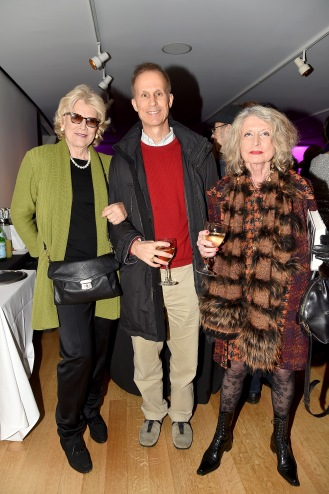 "Judy Auchincloss, Brandon Fradd, Cristina Grassi== Barbara Tober hosts a party for ""AVEDON: Something Personal""== Museum of Art and Design, NYC== November 15, 2017== ©Patrick McMullan== photo - Patrick McMullan/PMC== == Judy Auchincloss; Brandon Fradd; Cristina Grassi"