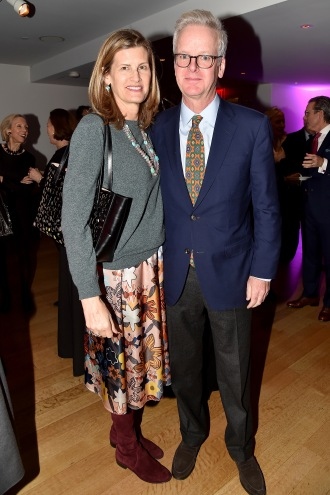 "Katie Ridder, Peter Pennoyer== Barbara Tober hosts a party for ""AVEDON: Something Personal""== Museum of Art and Design, NYC== November 15, 2017== ©Patrick McMullan== photo - Patrick McMullan/PMC== == Katie Ridder; Peter Pennoyer"