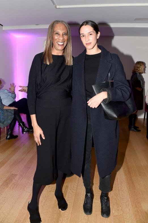 """Debrorah MacLean, Margaret MacLean== Barbara Tober hosts a party for """"AVEDON: Something Personal""""== Museum of Art and Design, NYC== November 15, 2017== ©Patrick McMullan== photo - Patrick McMullan/PMC== == Debrorah MacLean; Margaret MacLean"""