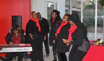 Members of the Calvary Baptist Church Choir