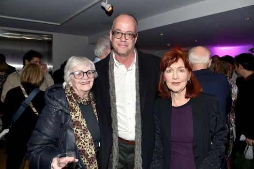 "Patricia Bosworth, Tom Kalin, Pat Hackett==Barbara Tober hosts a party for ""AVEDON: Something Personal""==Museum of Art and Design, NYC==November 15, 2017==©Patrick McMullan==photo - Patrick McMullan/PMC===="
