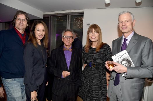 "Paul von Ravenstein, Pat Cleveland, Steven M.L. Aronson, Pamela Taylor Yates, Scott Johnston==Barbara Tober hosts a party for ""AVEDON: Something Personal""==Museum of Art and Design, NYC==November 15, 2017==©Patrick McMullan==photo - Patrick McMullan/PMC== =="