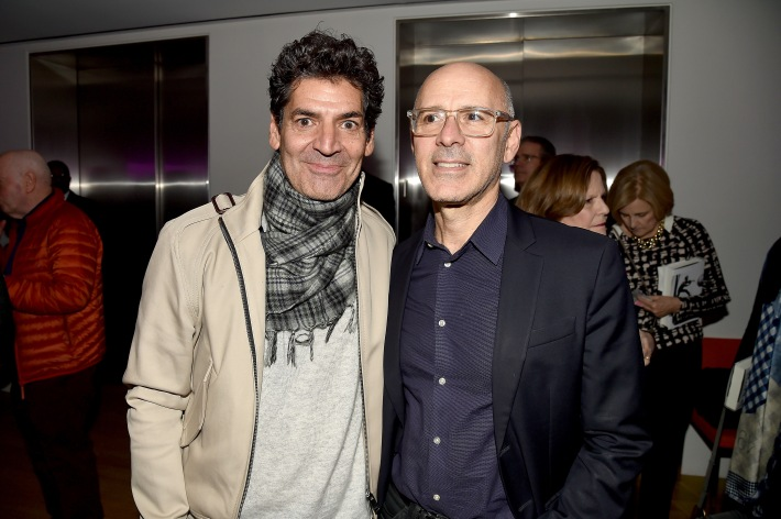 "Tom Florio, David Kuhn== Barbara Tober hosts a party for ""AVEDON: Something Personal""== Museum of Art and Design, NYC== November 15, 2017== ©Patrick McMullan== photo - Patrick McMullan/PMC== == Tom Florio; David Kuhn"