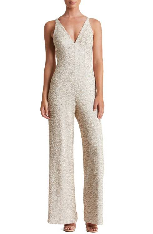 Charles Sequin Jumpsuit from Dress The Population. A dense covering of satin-finish sequins flatters and flaunts the figure in this party-ready jumpsuit. Available at www.shop.nordstrom.com for $298