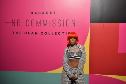 "MIAMI, FL - DECEMBER 08: Calyann Barnett attends BACARDI, Swizz Beatz and The Dean Collection bring NO COMMISSION back to Miami to celebrate ""Island Might"" at Soho Studios on December 8, 2017 in Miami, Florida. (Photo by Bryan Bedder/Getty Images for BACARDI)"