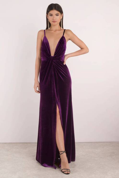plum-layla-velvet-plunging-maxi-dress