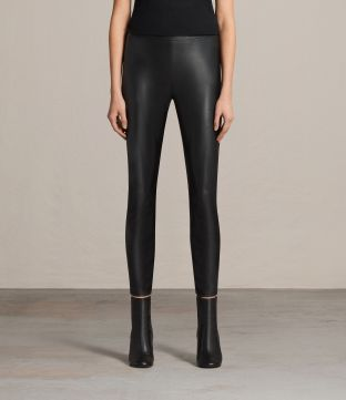 Isla Faux Leather Leggings from All Saints. Sleek, smooth faux leather is used on the Isla Leggings. Skinny fit and cropped above the ankles with a seam running along the back legs. Available from www.us.allsaints.com for $230