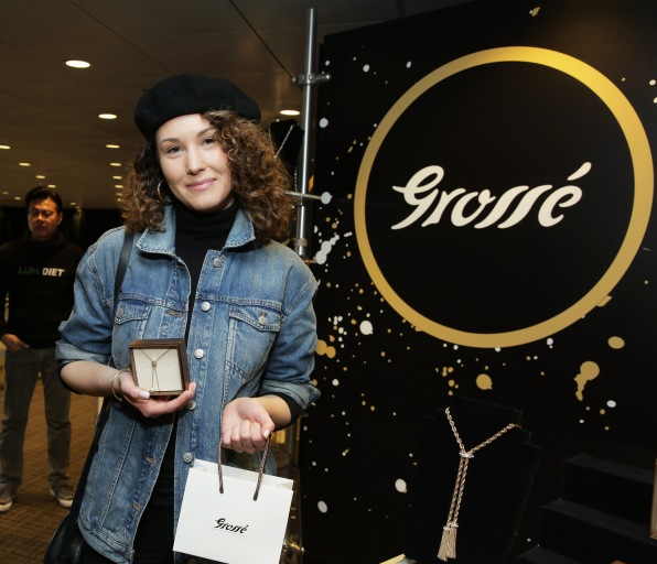 Singer Loren Allred attends the GRAMMY Gift Lounge during the 60th Annual GRAMMY Awards at Madison Square Garden