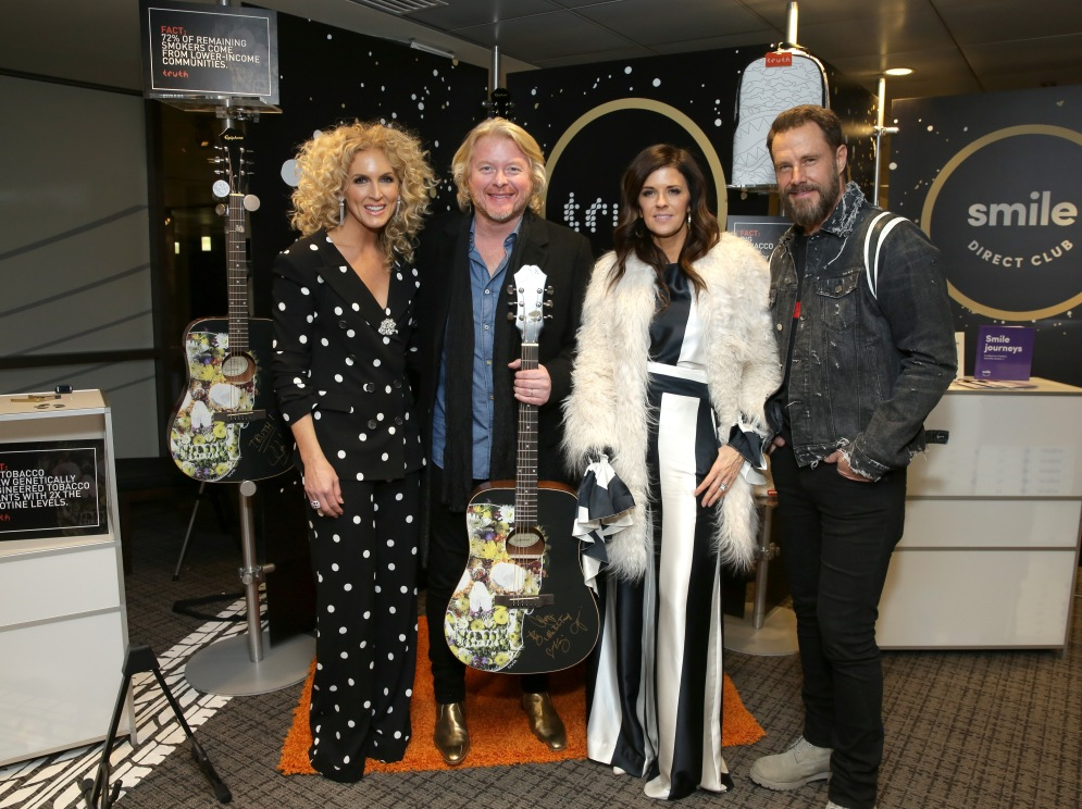 Singers Kimberly Schlapman, Philip Sweet, Karen Fairchild and Jimi Westbrook of musical group Little Big Town attend the GRAMMY Gift Lounge during the 60th Annual GRAMMY Awards at Madison Square Garden
