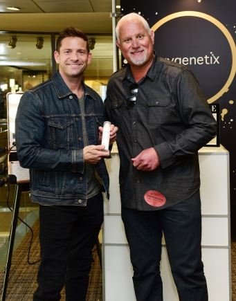 Singer Jeff Timmons (R) attends the GRAMMY Gift Lounge during the 60th Annual GRAMMY Awards at Madison Square Garden
