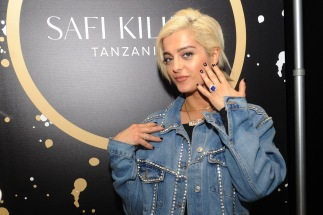 Singer Bebe Rexha attends the GRAMMY Gift Lounge during the 60th Annual GRAMMY Awards at Madison Square Garden