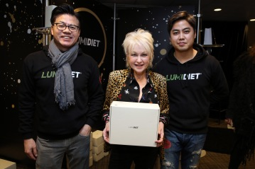 Singer Cyndi Lauper attends the GRAMMY Gift Lounge during the 60th Annual GRAMMY Awards at Madison Square Garden
