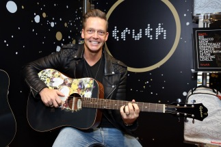 Musician Bernie Herms attends the GRAMMY Gift Lounge during the 60th Annual GRAMMY Awards at Madison Square Garden